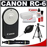 Canon RC-6 Wireless Remote Shutter Release Controller + Tripod + Accessory Kit for Rebel T2i, T3i, T4i & EOS M, 60D, 7D, 5D Mark III Digital SLR Cameras
