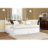 DHP Victoria Full Size Metal Daybed (White)