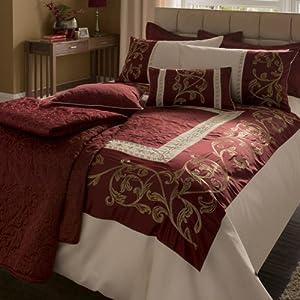 Persia Duvet Set Luxury Bedding Set King Size Bed Burgundy