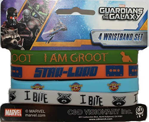 Application Guardians of the Galaxy Mini Rubber Wristband (4 Piece) by Application