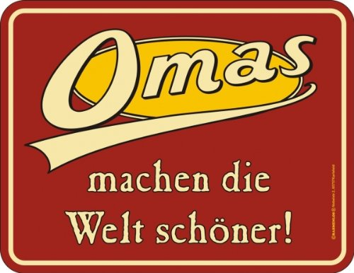 omas-grandmothers-sign-german-text