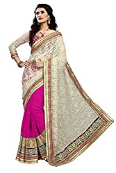 coolwomen women's georgette embroidered free size fancy saree-cw_NMD2A204_pink_free size