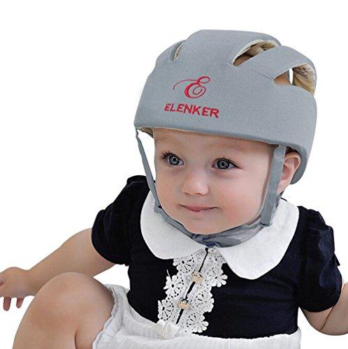 ELENKER-Babyhelm-Kopfschutzmtze-fr-Kleinkind-beim-Lauflernen-verstellbar-Safety-Helmet-Grau