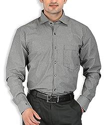 SPEAK Men's Black Printed Premium Cotton Formal Shirt