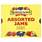 Robertsons Classic Assorted Jam Portions 100x20g 50xStrawberry, 25xRaspberry, 25xBlackcurrant