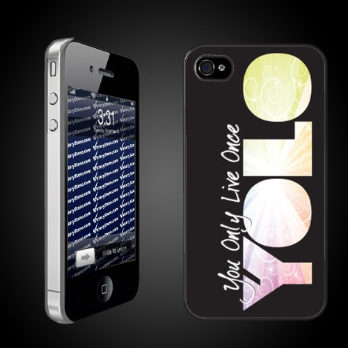 Fun YOLO iPhone Hard Case Designs   You Only Live Once/YOLO Black CLEAR Protective iPhone 4/iPhone 4S Case