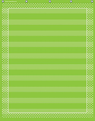 Teacher Created Resources Lime Polka Dots 10 Pocket Chart (20745) (Dot Chart compare prices)