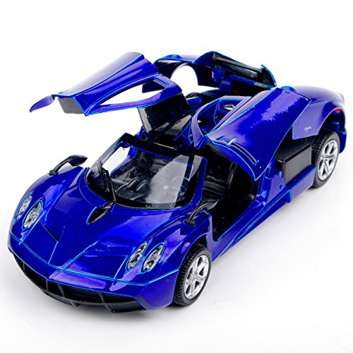 132-alloy-diecast-blue-pagani-zonda-sports-car-model-toy-w-sound-light