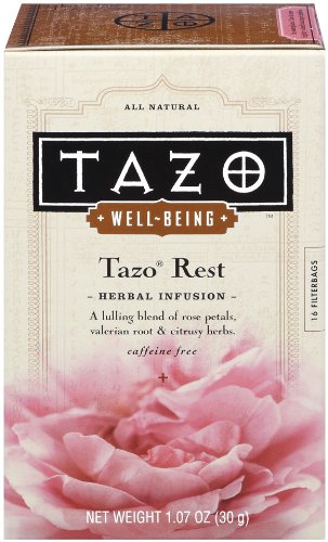 Tazo Well-Being Rest, Herbal Infusion Tea, 16-Count Tea Bags (Pack of 6)