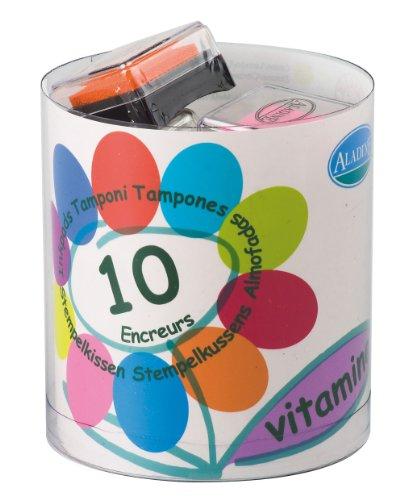 Aladine Vitamin Colored Mini Ink Pads, Set of 10