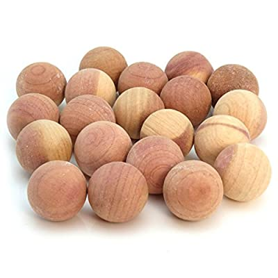 Hangerworld Cedar Wood Balls Moth Repellent, for Drawers, Storage boxes, Closets etc. Pack of 20, Natural