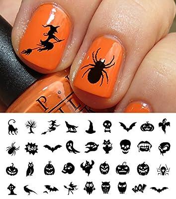 Halloween Nail Decals Assortment #3 - WaterSlide Nail Art Decals - Salon Quality!