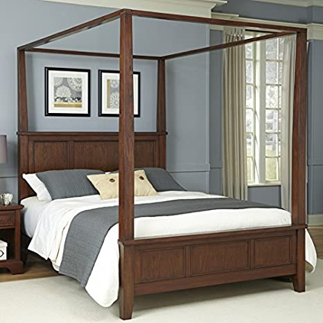 Lancaster Wood Canopy Bed (King)
