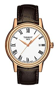 Tissot Men's T0854103601300 Carson Analog Display Swiss Quartz Brown Watch