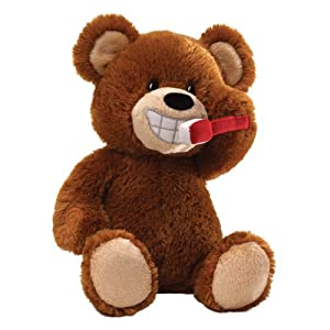 "Gund Brush Your Teeth Bear Animated 2"" Plush by Gund"