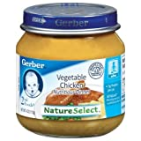 Gerber 2nd Foods, Chicken with Vegetables, 4-Ounce Jars  (Pack of 12) ~ Gerber