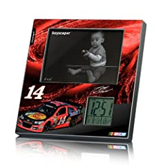 NASCAR Tony Stewart 14 Bass Pro Shops Picture Frame and Desk Clock by Keyscaper