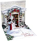 3D Greeting Card - HOLIDAY DOOR - Christmas