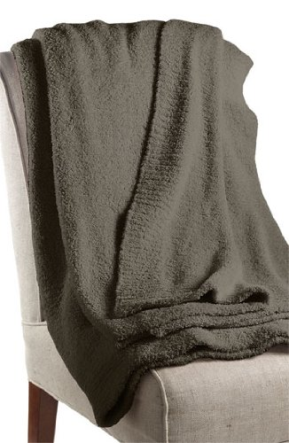 Barefoot Dreams Cozychic Ribbed Throw Blanket, Color: Charcoal front-1009005