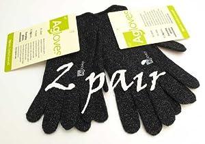 Agloves ® Original Touchscreen Gloves, iPhone Gloves, Texting Gloves 2 Pair (Medium Large)