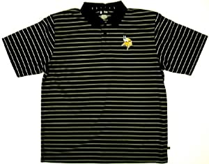 Mens Minnesota Vikings Moisture Wicking Polo Golf Shirt by Lee