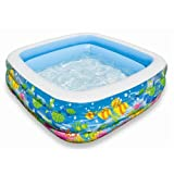 "Swim Center Clearview Aquarium Pool, 62.5"" x 62.5"" x 19.5"""