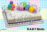 Baby Blocks and Balloons Cake Topper