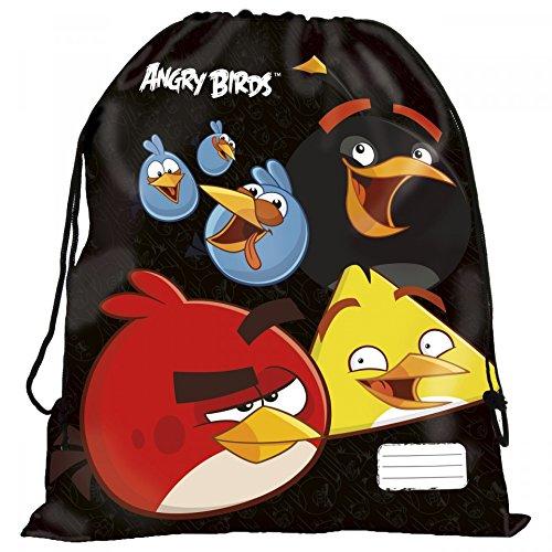 Maxi& Mini, MOTIVO: ANGRY BIRDS-BORSA PER PISCINA, SCUOLA, SPORT O SPIAGGIA SCARPE USCITA IN PIENO-AIR