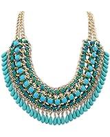 SUNNOW® Bohemian Vintage Perles Tassel Bib Style Pull Collier Fashion Necklace Avec un cadeau Sac