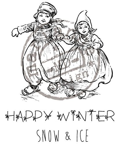 Marianne Happy Winter Rubber Stamps - 1