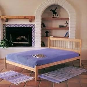 Amazon Com Full Size Spindle Platform Bed Frame Made