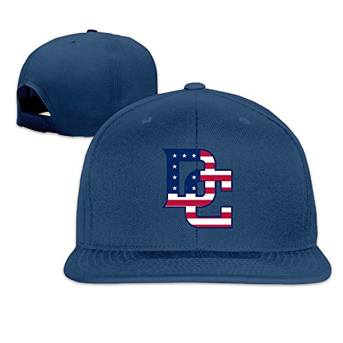 [NORAL Adjustable Baseball Washington Sport Baseball Logo Cap Hat Navy] (Ecuador National Costume For Men)