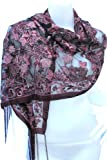 VERY NICE FLOWER LOVELY PASHMINA SCARF SHAWL WRAP THROW WITH COMPLIMENTARY