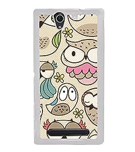 Owls Wallpaper 2D Hard Polycarbonate Designer Back Case Cover for Sony Xperia C4 Dual :: Sony Xperia C4 Dual E5333 E5343 E5363