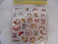 Mother's Day Stickers 26 Foil Flowers Scrapbooking Supplies by Mary Engelbreit