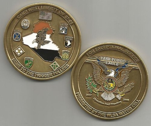 US Army Camp West Liberty OIF 2007-2009 Task Force Eagle Challenge Coin