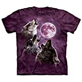 Three Wolf Moon In Purple T-Shirt Size XXL