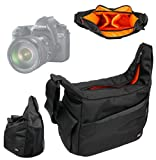 DURAGADGET Rugged Shoulder 'Sling' Carry Bag with Adustable Interior & Multiple Compartments for Canon EOS Rebel T3, T3i, T4i, T5, T5i, EOS SL1, EOS M, EOS 60Da & EOS 60D