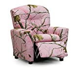 Kidz World Real Tree Pink Xtra Camouflage Children's Recliner with Cup Holder
