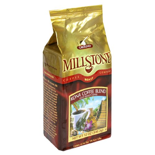 Millstone Kona Blend Ground Coffee, 12-Ounce Packages (Pack Of 2)