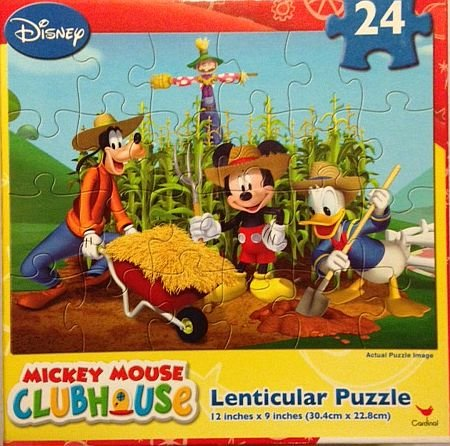 Mickey Mouse Clubhouse 24 Piece Lenticular Puzzle - On The Farm - 1