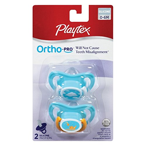 Playtex 00130 Ortho-Pro Silicone Binky 0-6 Months (Pack of 4) - 1