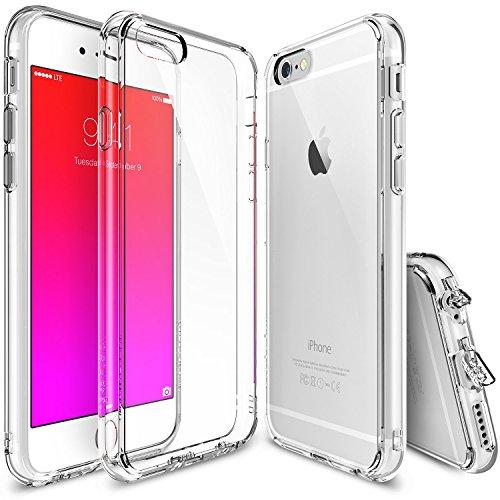 iPhone 6 / 6s Custodia - Ringke FUSION *** Tutto il Nuovo Shock Tecnologia di Assorbimento *** [Gratuito HD Protezione Pellicola dello schermo Incluso][CRYSTAL VIEW] Cristallo Chiaro Assorbimento di Scossa TPU Goccia Premio Protezione duro libero posteriore [Antigraffio][Attivo Toccare Technologia] per Apple iPhone 6 / 6s - Eco/DIY Pacchetto