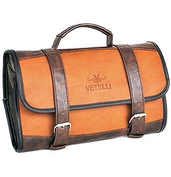 Vetelli Hanging Toiletry Bag for Men - Dopp Kit / Travel Accessories Bag