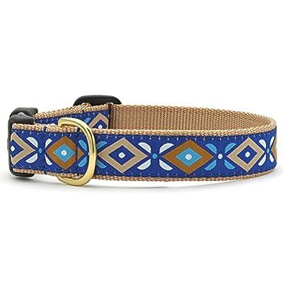 Aztec Blue Dog Collar