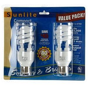 Sunlite SM13/E/26K/CD2 13 Watt Mini Spiral Energy Star Certified CFL Light Bulb Medium Base Warm White Carded 2 Pack at Sears.com