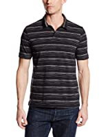 Perry Ellis Men's Short-Sleeve Space-Dye Open Polo Shirt