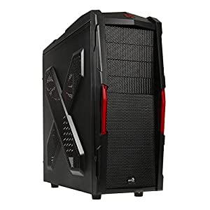 Aerocool Strike-X Xtreme USB 3.0 Gaming Case with 18cm Toolless Front Red LED Fans - Black
