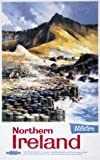 North Ireland, Ulster Art, Print, Giants Causeway Travel Poster by British Railways