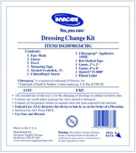 Central line dressing change kit with opsite for Photo dressing change